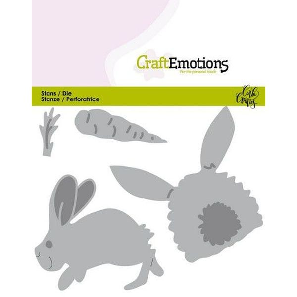 Craft Emotions Dies Bunny I Rabbit with Carrot