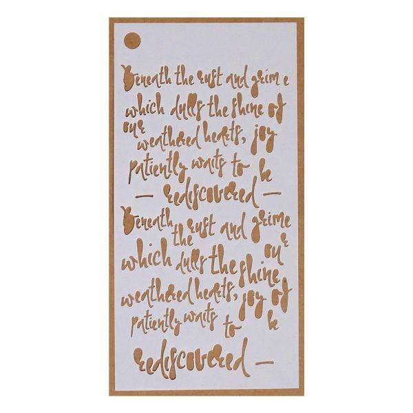Elisabeth Craft Designs Stencil Art Jounal Story Telling