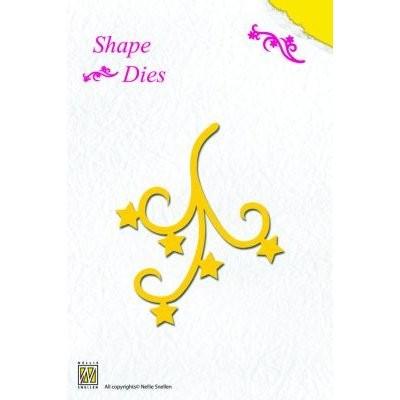Nellie´s Choice Shape Die Star Swirl