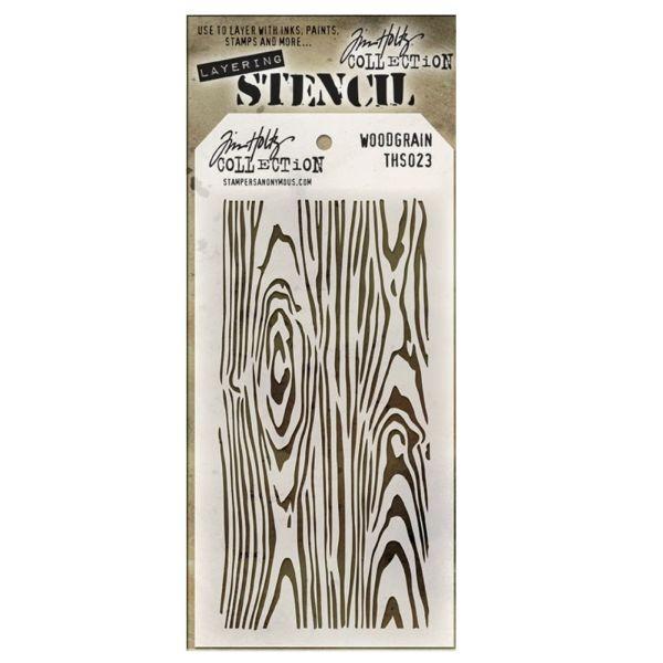 Tim Holtz Layering Stencils 023 Woodgrain