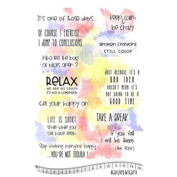Katzelkraft Tampon A5 Relax Saying