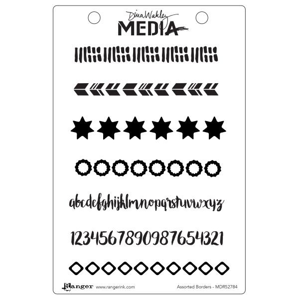 Dina Wakley Media Clingstamps Assorted Borders