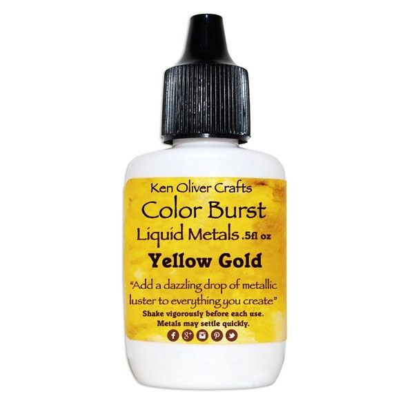 Ken Oliver Crafts Color Burst Liquid Metals Yellow Gold