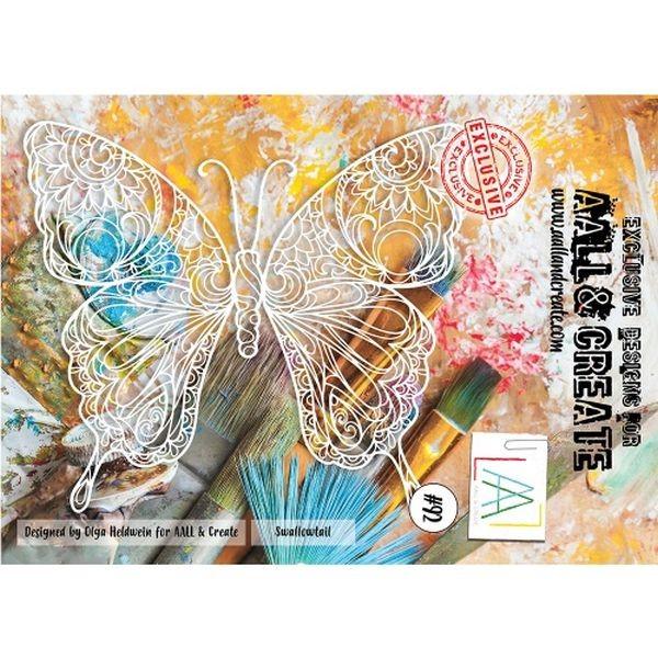 AALL & Create Stencil A4 No. 92 Swallowtail