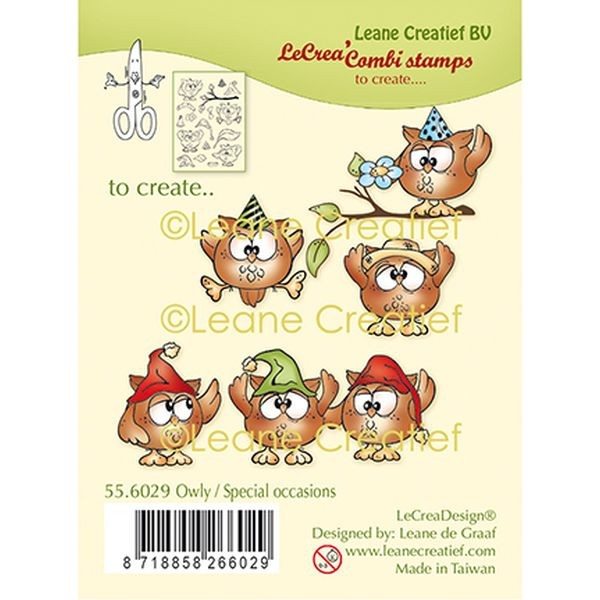 LeaCreadesign Combi-Clearstamps Xmas Owls