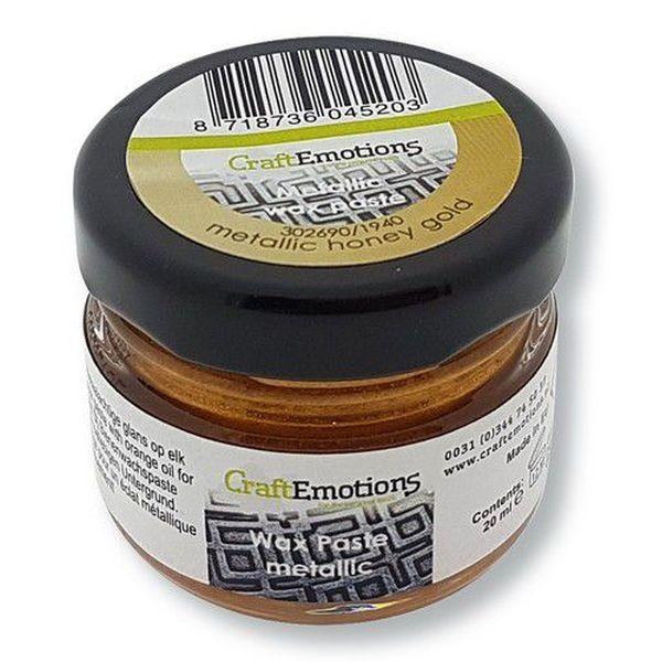 Craft Emotions Wax Paste Metallic Honey Gold