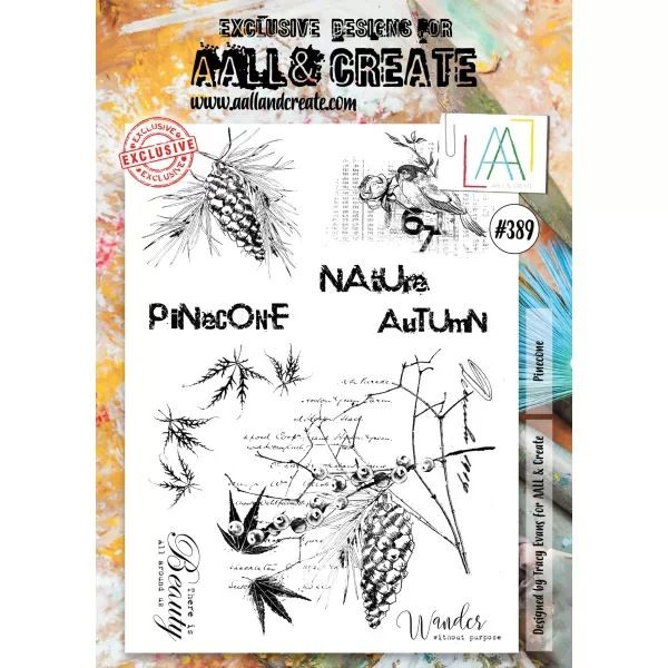 AALL & Create Clearstamps A4 No. 389 Pinecone