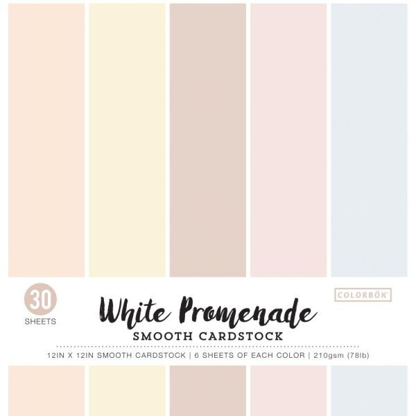Colorbök Smooth Cardstock 12x12 White Promenade