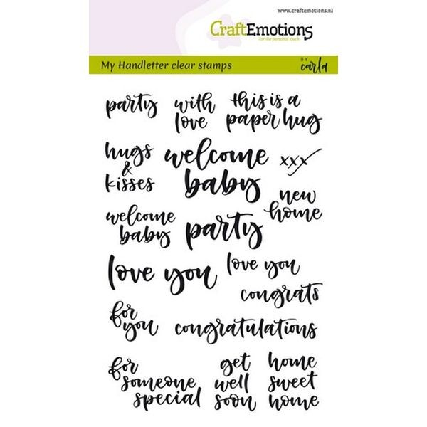 Craft Emotions Clearstamps Handlettering Card Moments