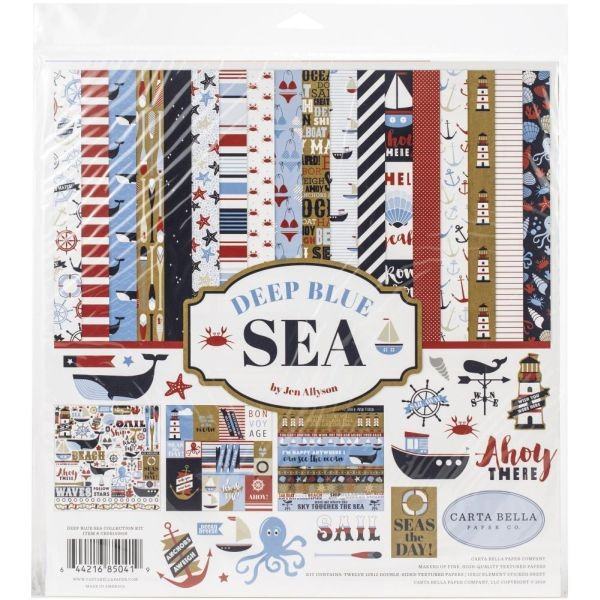 Carta Bella Deep Blue Sea Collection Pack 12x12