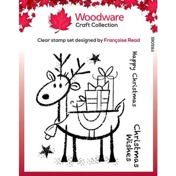 Woodware Clear Christmas Singles Rudolph Pressies