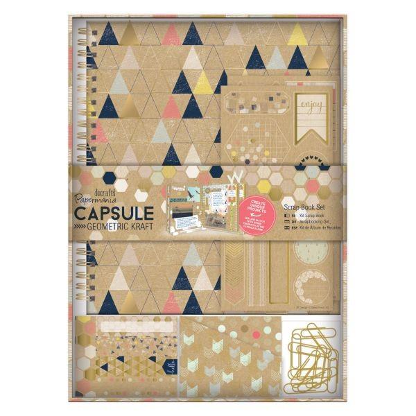 Papermania Capsule Geometric Kraft Scrapbook Set