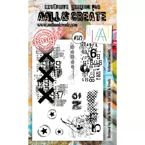 AALL & Create Clearstamps A6 No. 372 Textural Elements