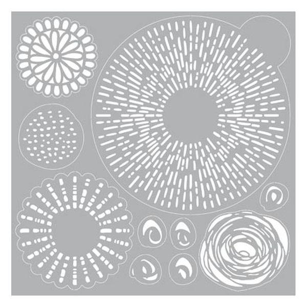 Pronty Mask Stencil 30x30 Gel Line & Dot