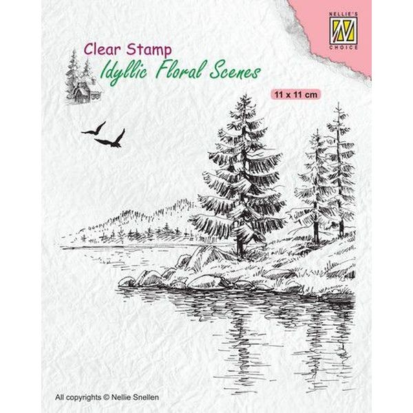 Nellie´s Choice Clearstamp Idyllic Floral Wintery Water