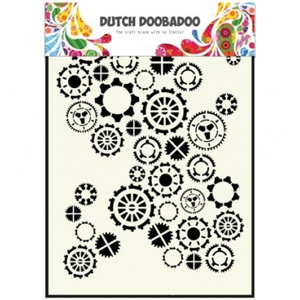 Dutch Doobadoo Mask Stencil A5 Gears