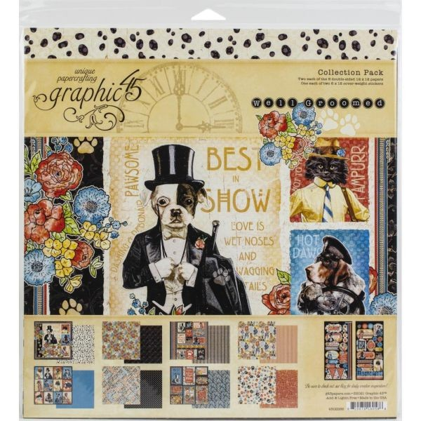 Graphic 45 Well Groomed Collection Pack 12x12