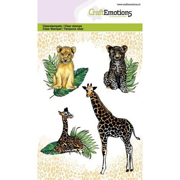 Craft Emotions Clearstamps Giraffe & Cubs