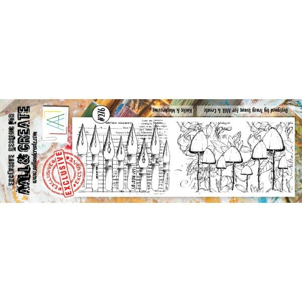 AALL & Create Border Clearstamps No. 276 Knibs & Mushrooms