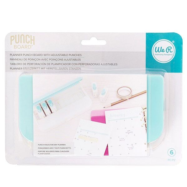 WeR Memory Keepers Planner Punch Board