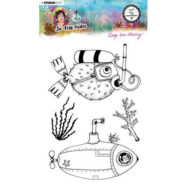 Studio Light by Marlene So-Fish-Ticated Clearstamps A5 No. 12