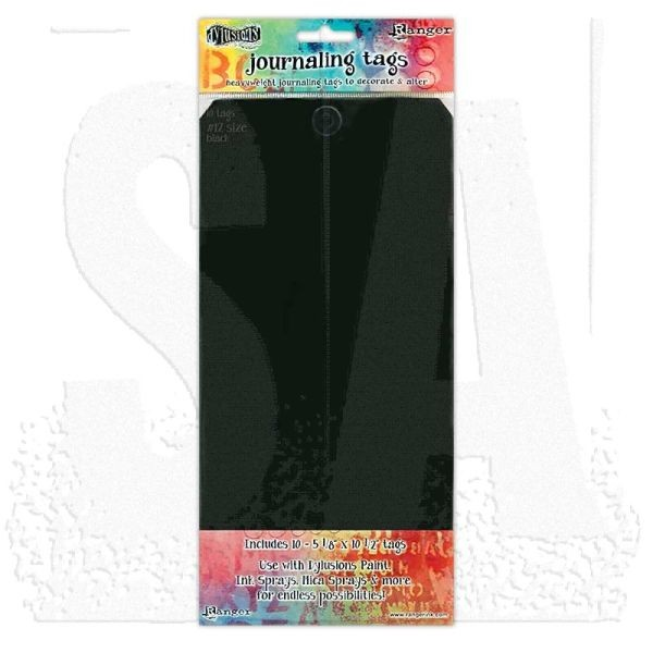 Dylusions Journaling Tags #12 Black