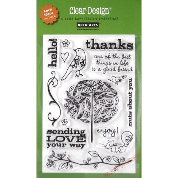 Hero Arts Clearstamps Trees, Birds & Messages