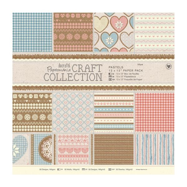 Papermania Craft Collection Pastels Paperpack 12x12
