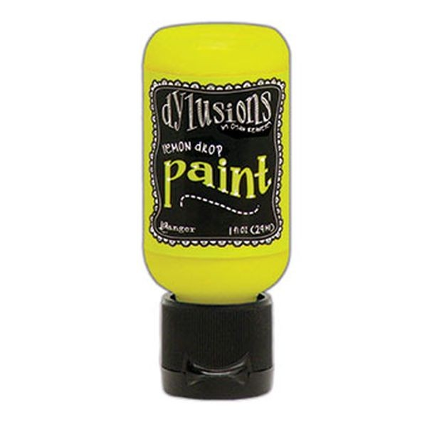 Dylusions Flip Cap Paint Lemon Drop