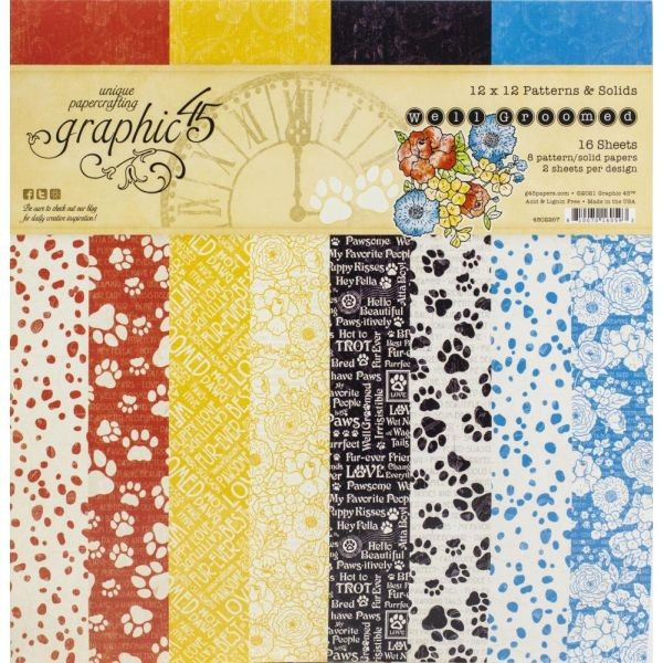 Graphic 45 Well Groomed Patterns & Solids 12x12