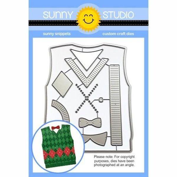 Sunny Studio Stamps Dies Sweater Vest