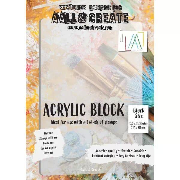 AALL & Create Flexible Acrylic Block A4