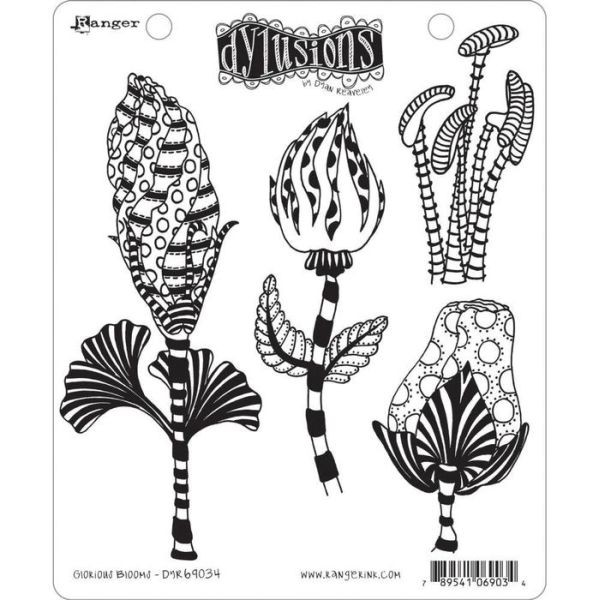 Dylusions Clingstamps Glorious Blooms
