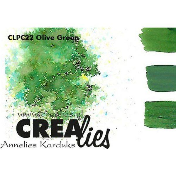 Crealies Pigment Colorzz Olive Green