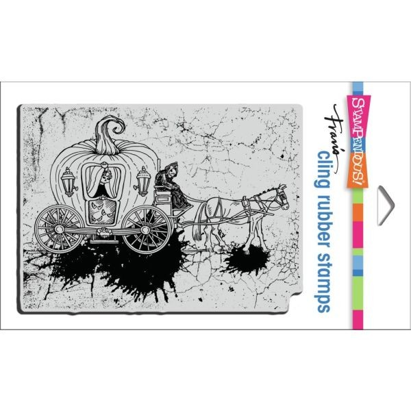Stampendous Fran´s Clingstamps Scary Carriage