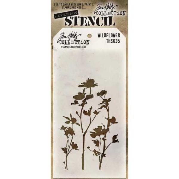 Tim Holtz Layering Stencils 035 Wildflower