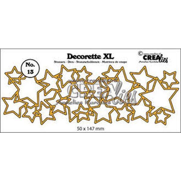 CreaLies Decorette XL No. 13 Interlocking Stars