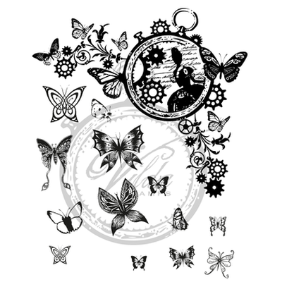 V710 Butterfly Corner w/extra Butterflies