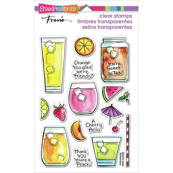 Stampendous Fran´s Clearstamps Fruity Drinks
