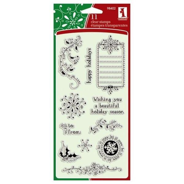 Inkadinkado Clear Stamps Doodle Holidays