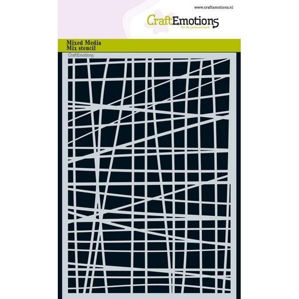 Craft Emotions Mask Stencil Lines Irregular