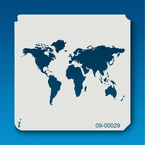 Istencils 5x5 World Map