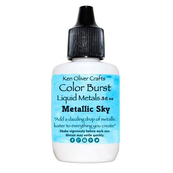 Ken Oliver Crafts Color Burst Liquid Metals Metallic Sky