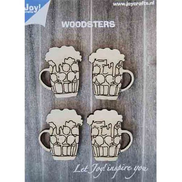 Joy! Crafts Woodsters Beer Mugs