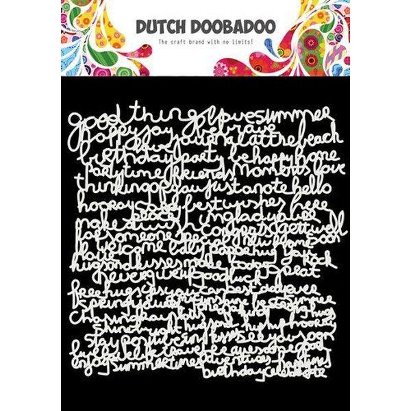 Dutch Doobadoo Mask Stencil 6x6 Text