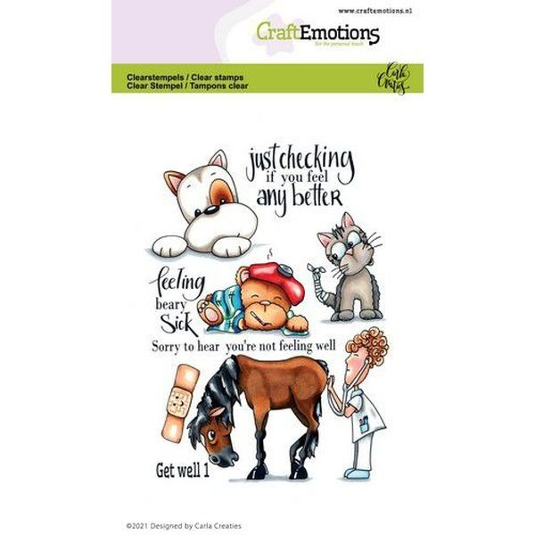 Craft Emotions Clearstamps Get Well I