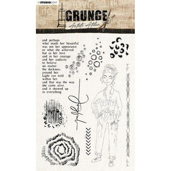 Studio Light Grunge Artist´s Atelier Clearstamps A5 No. 31