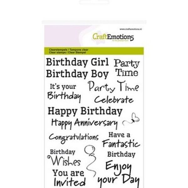 Craft Emotions Clearstamps Text Birthday