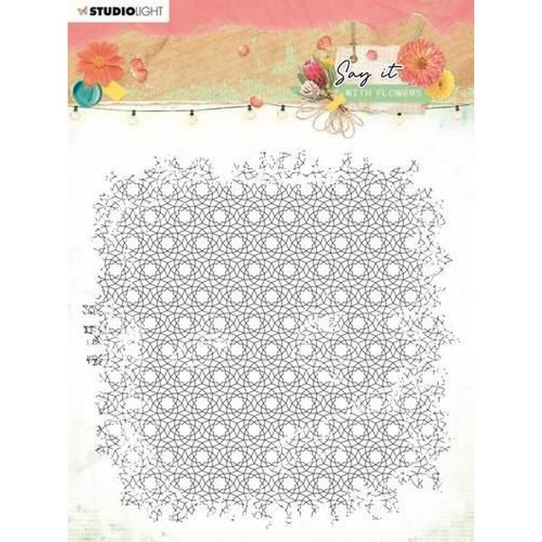 Studio Light Say it with Flowers Backgroundstamp No. 528