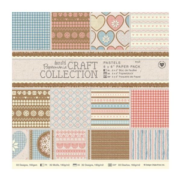 Papermania Craft Collection Pastels Paperpack 6x6
